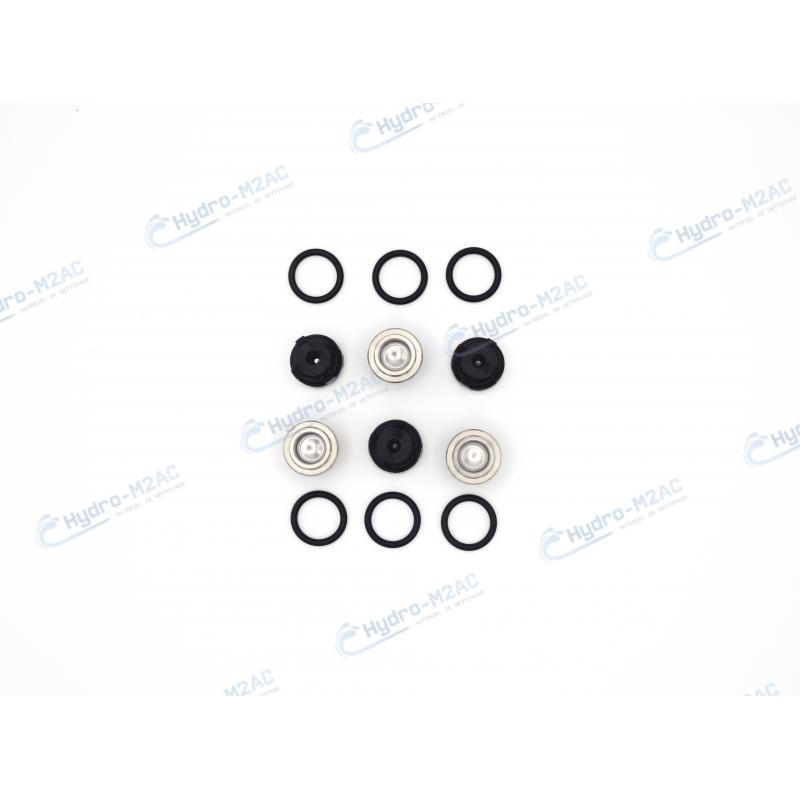 KIT CLAPETS AVEC JOINTS x6  POUR POMPE HAUTE PRESSION ANNOVI REVERBERI - image 1